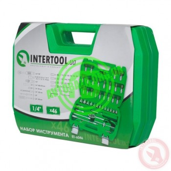 Набор инструментов 46 ед., 1/4 INTERTOOL ET-6046